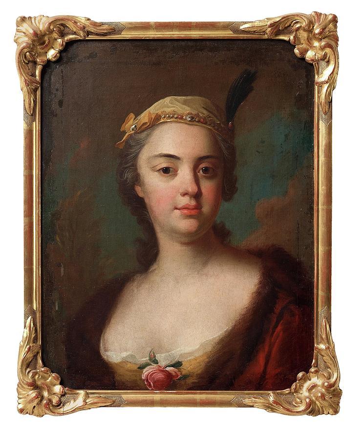 Girl Painting - Olof Arenius, Ulrika Eleonora Ribbing Af Zernava 1723-1787 by Olof Arenius