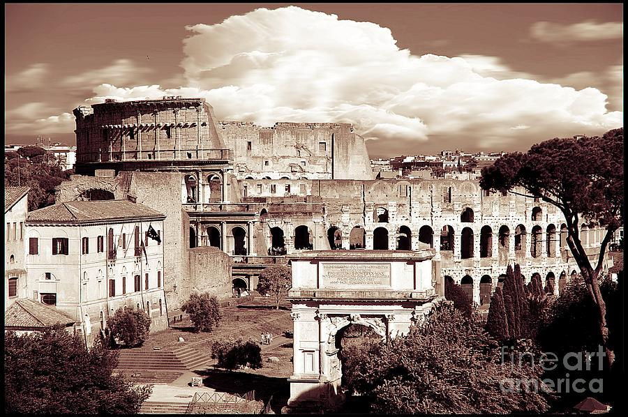 Colosseum Photograph - Colosseum From Roman Forums  by Stefano Senise