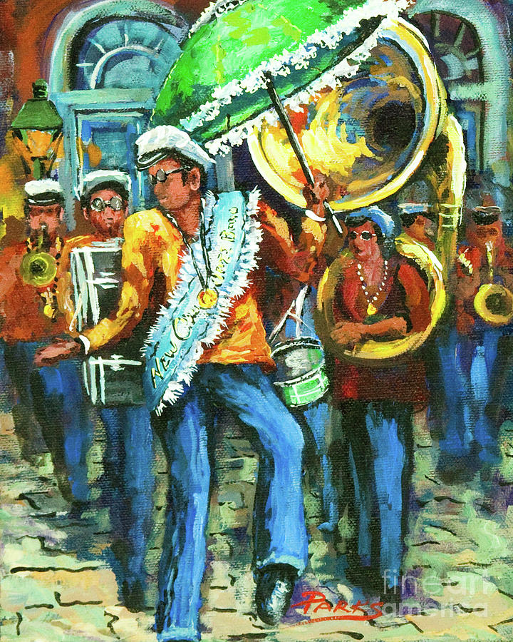 Olympia Painting - Olympia Brass Band by Dianne Parks