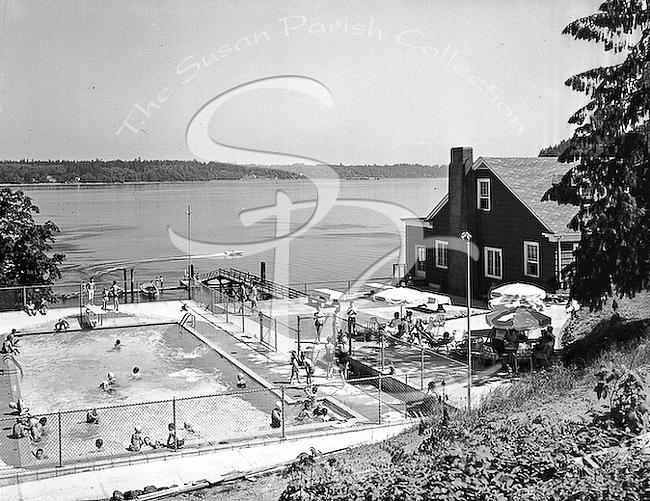 OLYMPIA COUNTRY CLUB POOL 1959 by Merle Junk