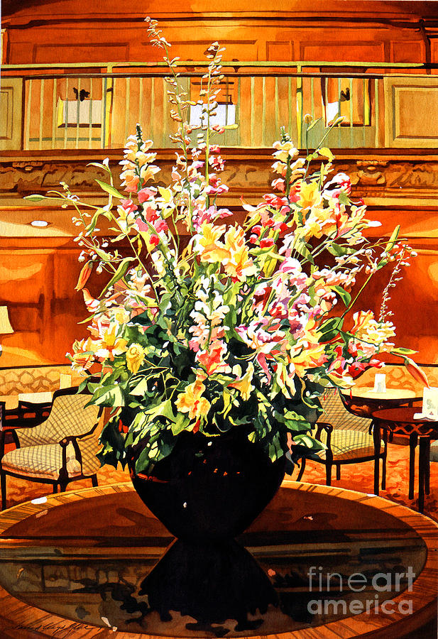 Flower Arrangements Painting - Olympic Grandeur by David Lloyd Glover