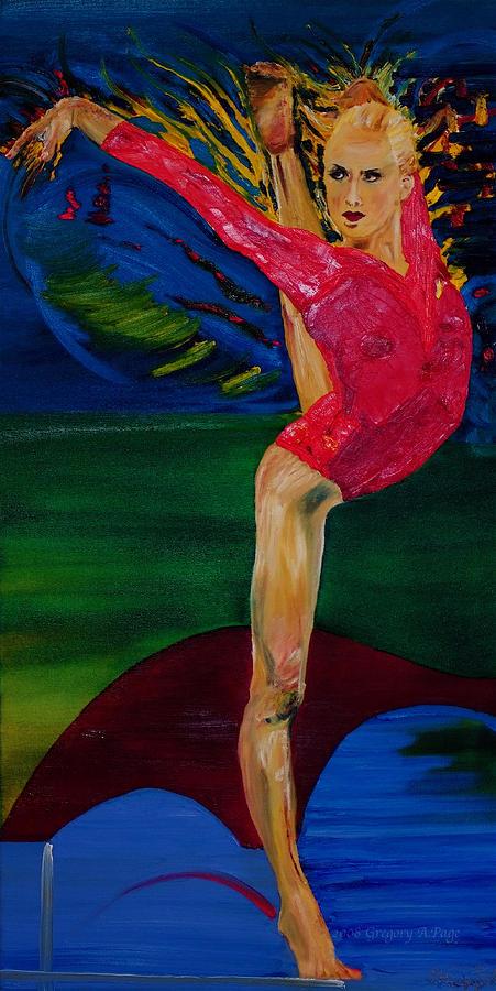 Nastia Liukin Painting - Olympic Gymnast Nastia Liukin  by Gregory Allen Page