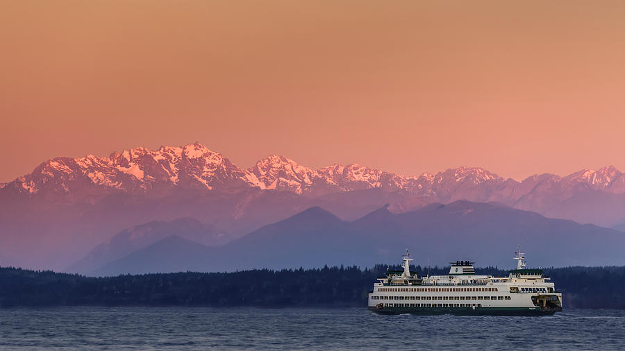 Ferry Photograph - Olympic Journey by Dan Mihai