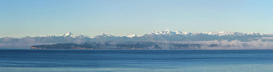 Olympic Mountains Across Puget Sound by Mary Jo Allen