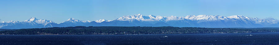 Olympic Mountains From Shoreline by Mary Jo Allen