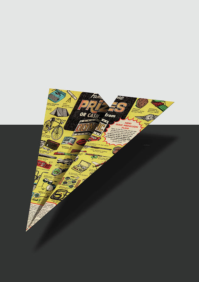 f479cfc6c739 Advertising Digital Art - Olympic Sales Club Comic Book Ad Paper Airplane  by YoPedro