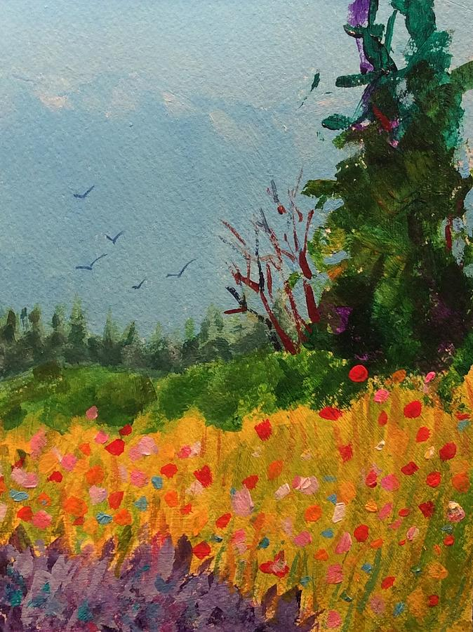Wildflowers Painting - Olympic View by Marion Corbin Mayer