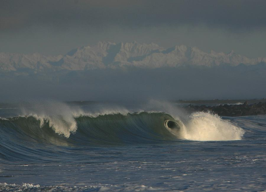 Ocean Photograph - Olympics Over Halfmoon Bay by Mike Coverdale