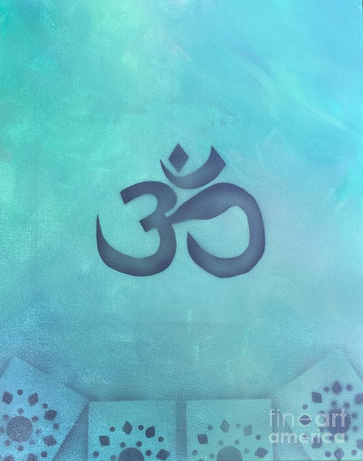 Buddhism Painting - OM by Buffy Heslin