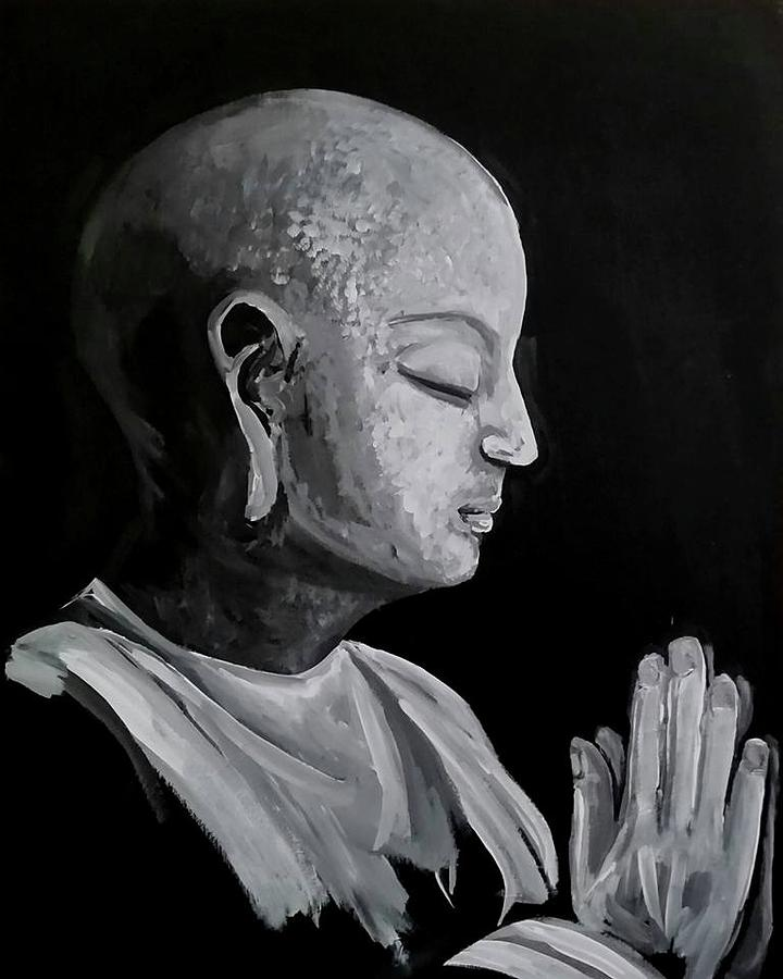 Buddha Painting - Om by Carole Hutchison