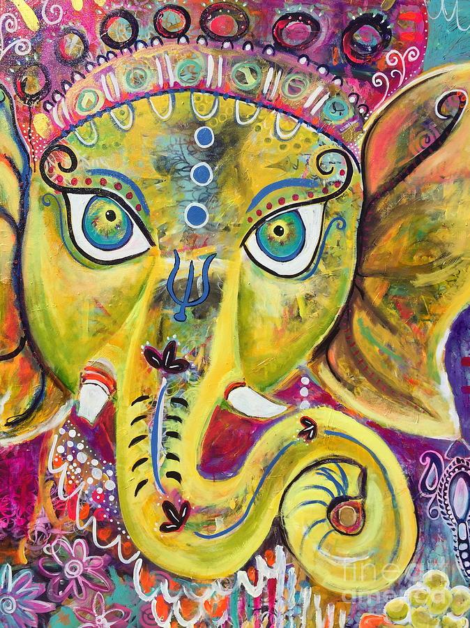 Om Gam Ganapataye Namaha Ganesh by Kim Heil
