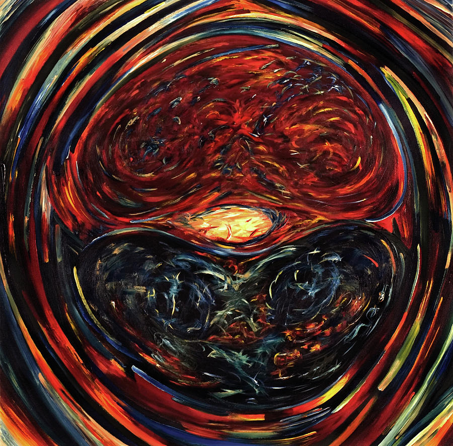 Om Painting - OM by Gretchen Dreisbach