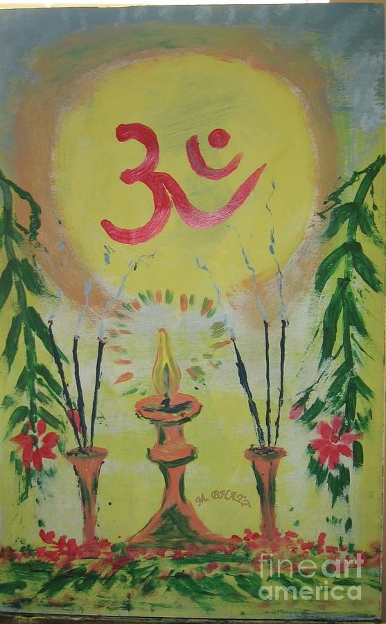 Hinduism Painting - Om Immage For Memmory by m Bhatt