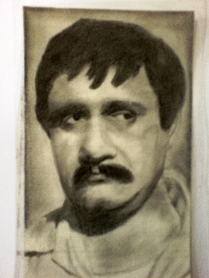 Actor Drawing - Om Prakash by Vishal Mane