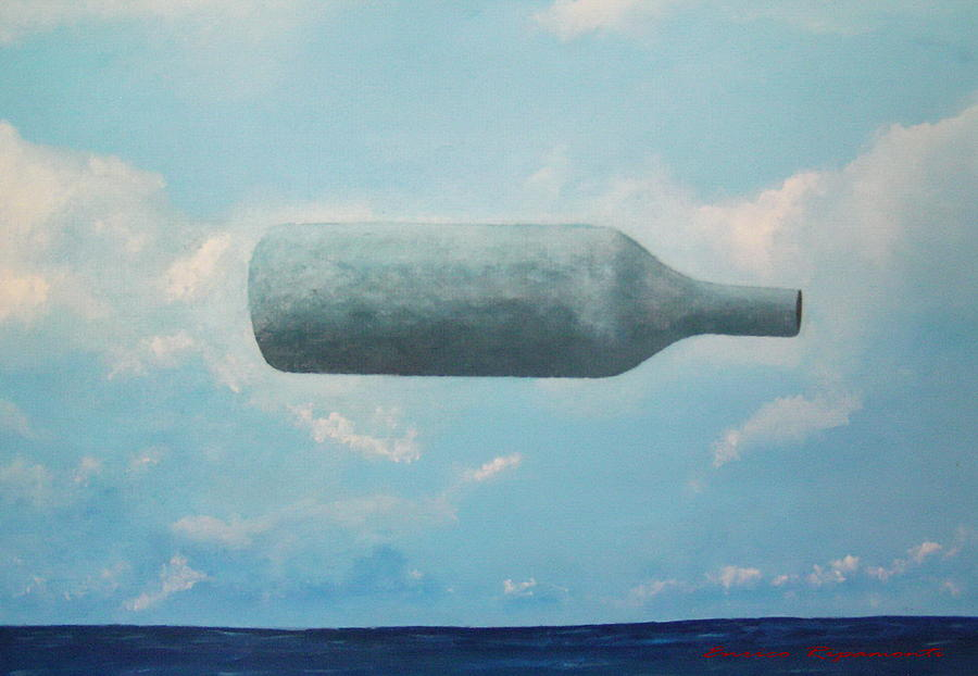 Omaggio a Magritte Painting by Enrico Ripamonti