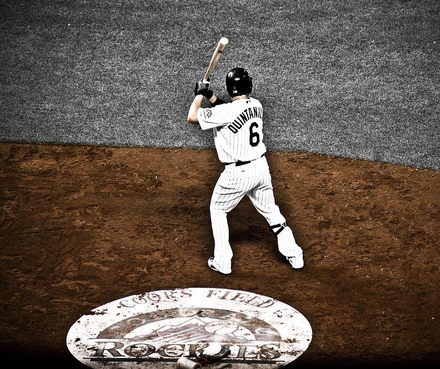 Baseball Photograph - Omar Quintanilla Pro Baseball Player by Marilyn Hunt