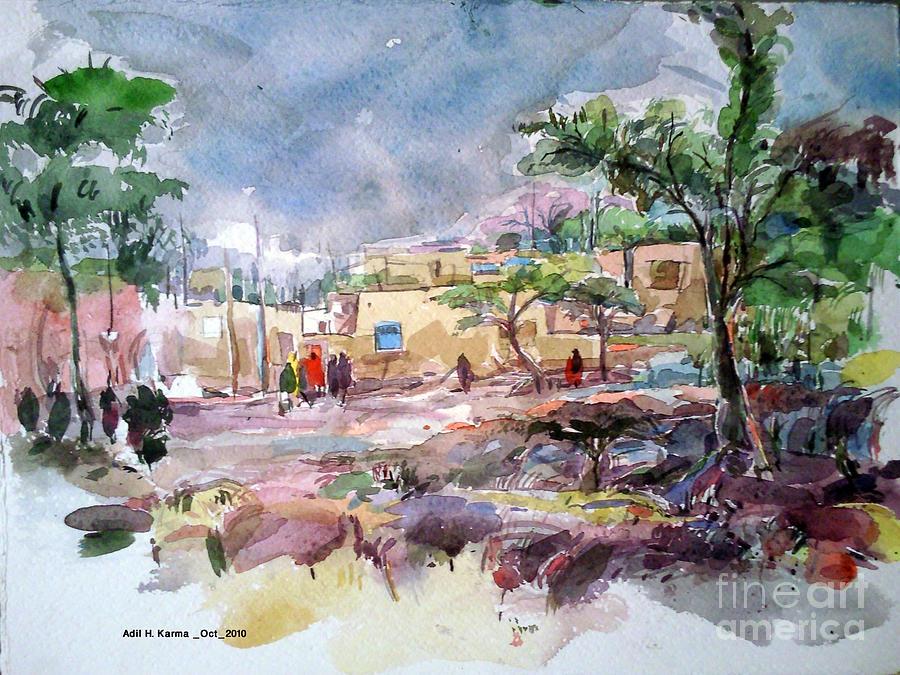 Omdurman  Painting by Adil Karma
