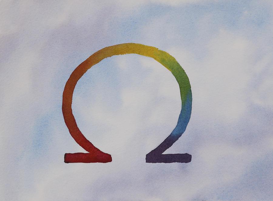 Omega Painting - Omega Rainbow by Debbie Homewood