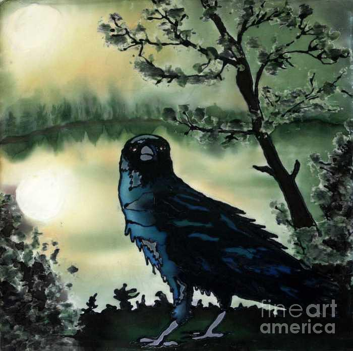 Raven Painting - Omen of Change by Linda Marcille
