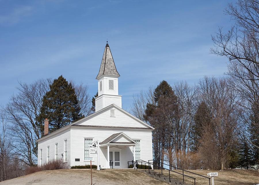 Michigan Photograph - Omena Presbyterian Church by Fran Riley