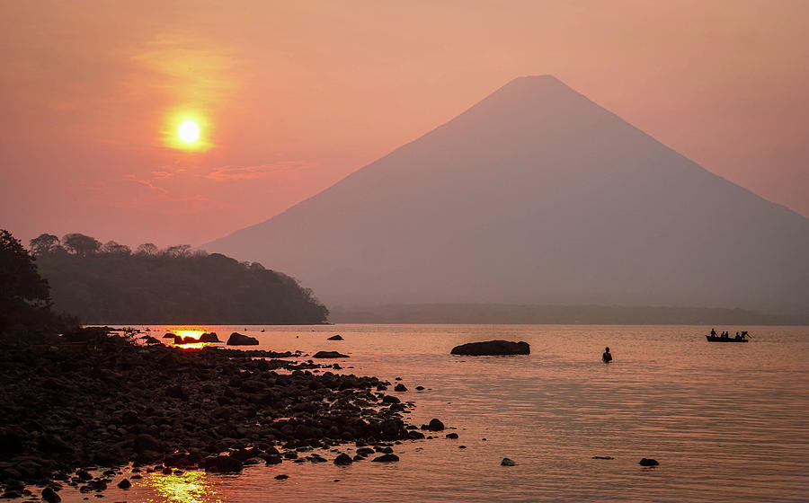 Volcano Photograph - Ometepe Eve by Paki OMeara