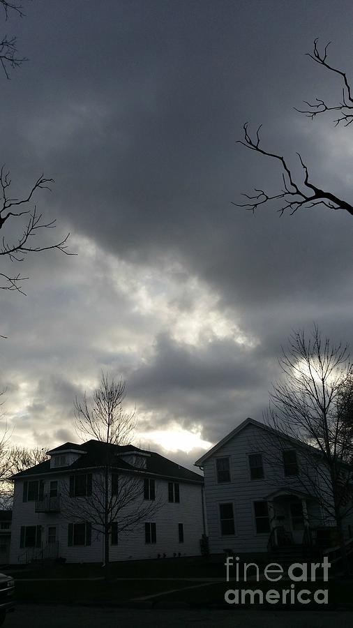 Clouds Photograph - Ominous Clouds by Diamante Lavendar