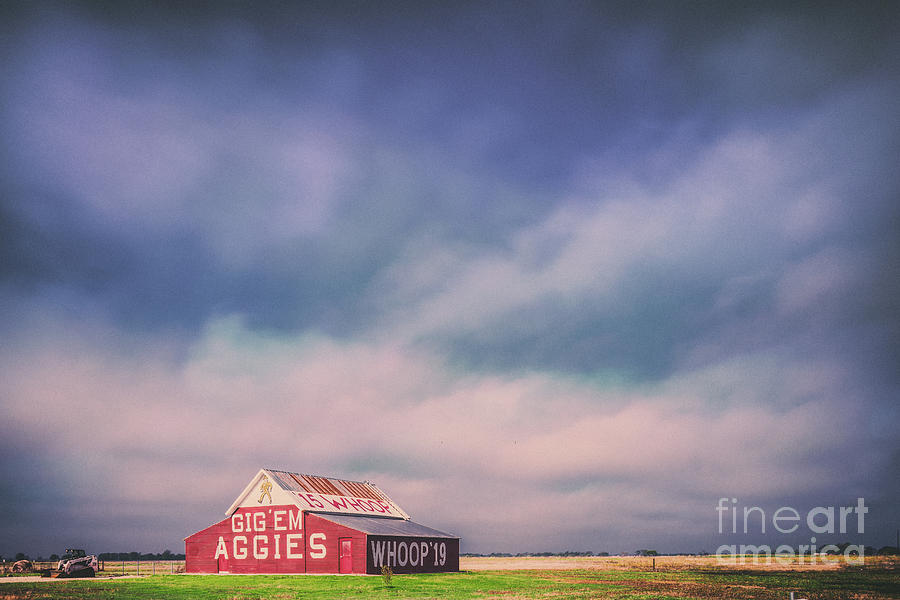 Silvio Photograph - Ominous Clouds Over The Aggie Barn In Reagan, Texas by Silvio Ligutti