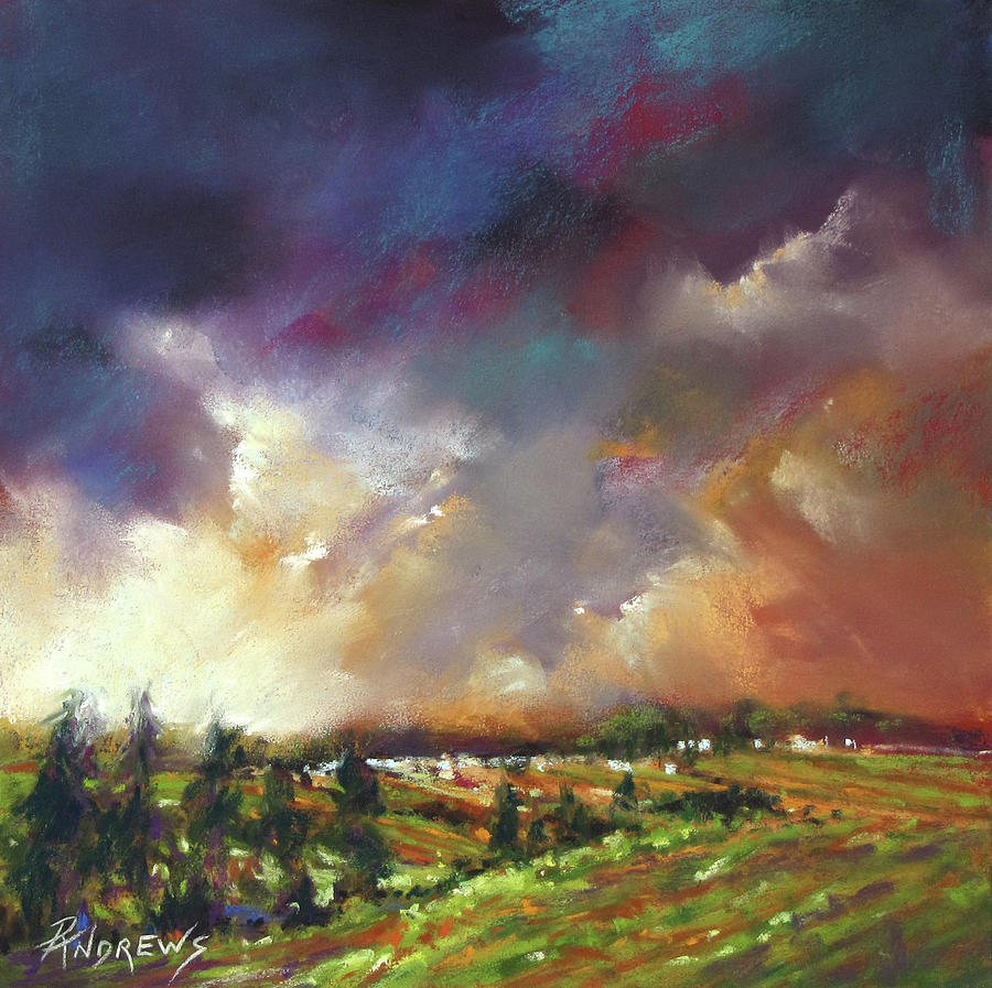 Landscape Painting - Ominous Prediction by Rae Andrews