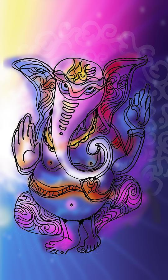 Omkareshvar Ganesha by Guruji Aruneshvar Paris Art Curator Katrin Suter