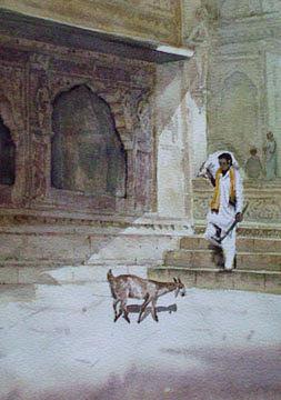 Painting Painting - Omkareswar by Aashish Kataria