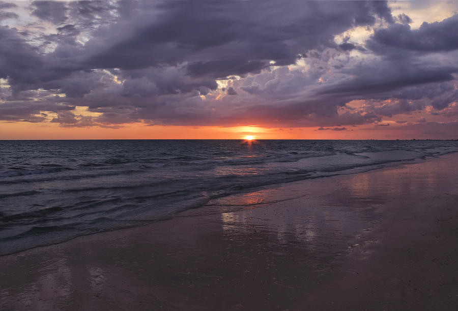 Beach Photograph - On A Cloudy Night by Kim Hojnacki