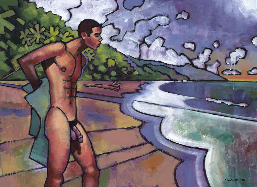 On A Costa Rican Beach Painting By Douglas Simonson