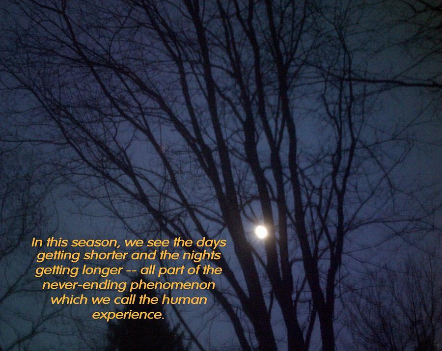 Night Photograph - On A Fall Night by John Lavernoich