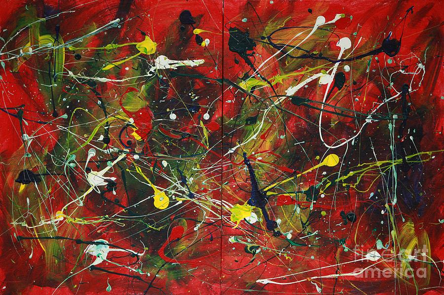 Splatter Painting - On A High Note by Jacqueline Athmann