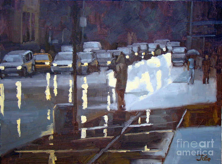 Cityscape Painting - On A Night Like This by Tate Hamilton