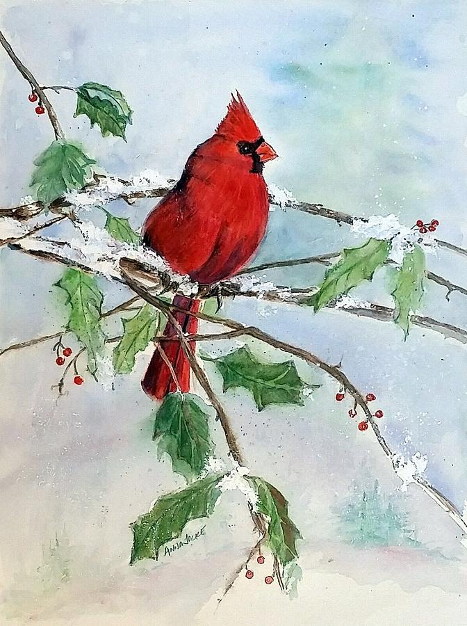 On A Snowy Perch by Anna Jacke