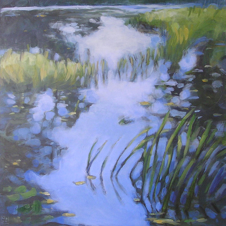 Landscape Painting - On Calm Reflection by Mary Brooking