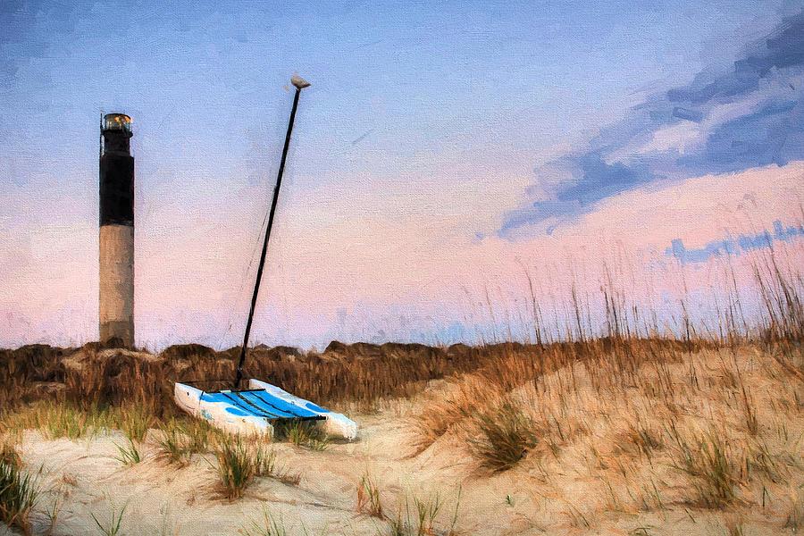 Oak Island Photograph - On Caswell Beach by JC Findley