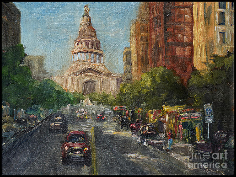 Austin Painting - On Congress by Lisa  Spencer