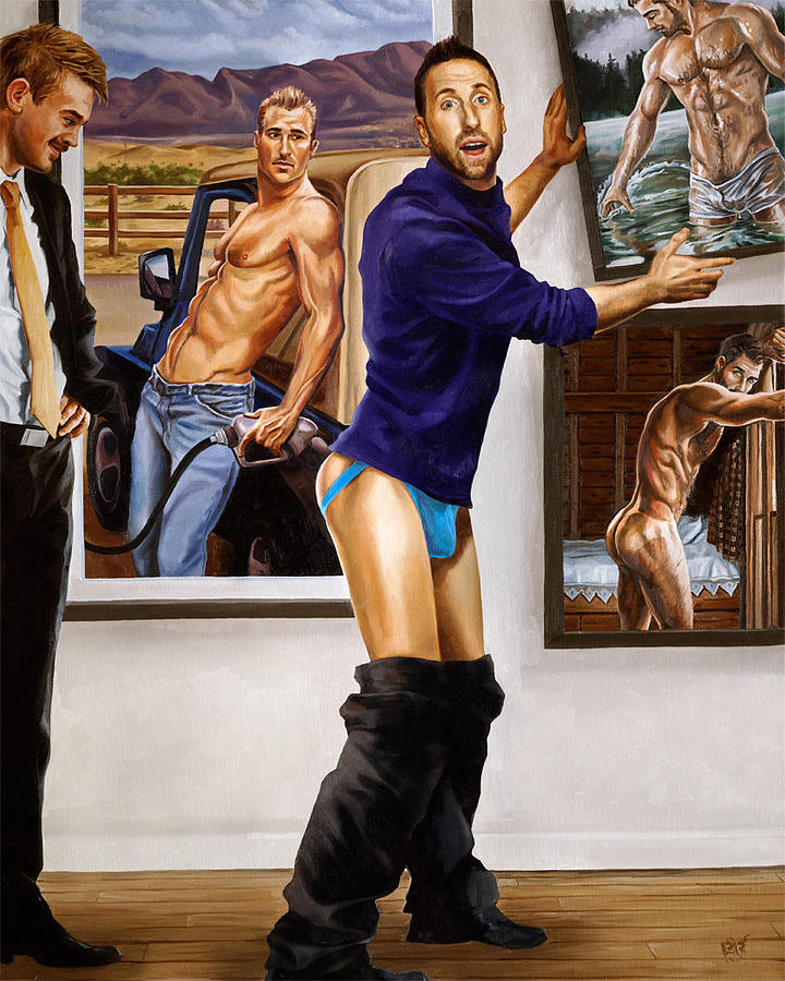 Art Painting - On Display Starring Michael Breyette by Paul Richmond