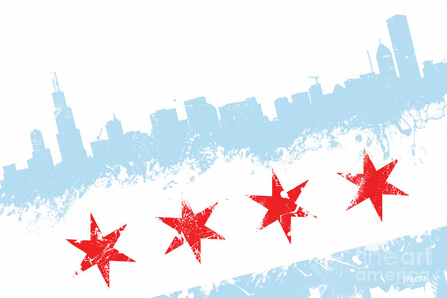 Chicago Flag Lean Digital Art