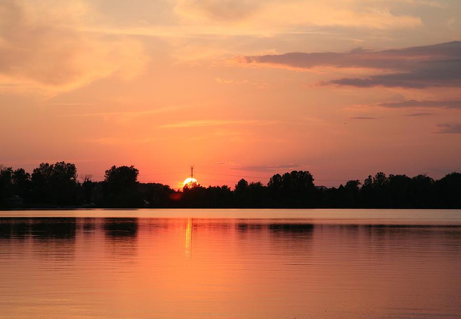 Sunset Photograph - On Fire by Deborah Molitoris