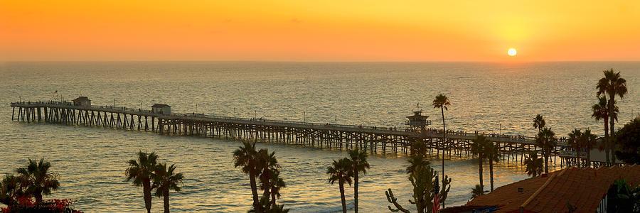 San Clemente Photograph - On Golden Pier by Gary Zuercher