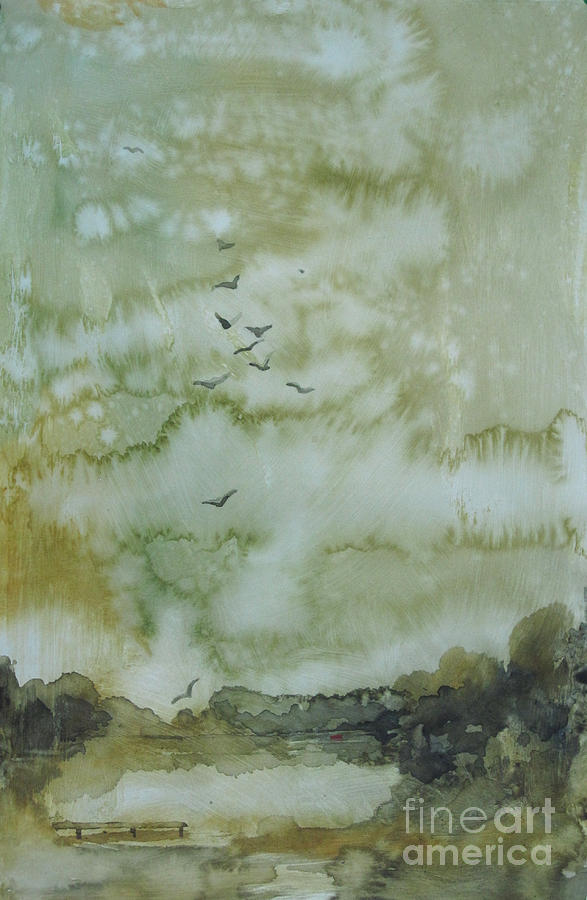 Pond Painting - On Golden Pond by Elizabeth Carr
