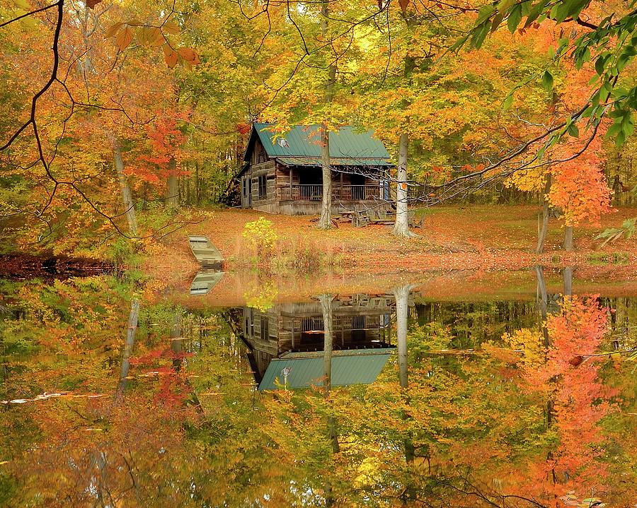 On Golden Pond Photograph by Jeff Burcher