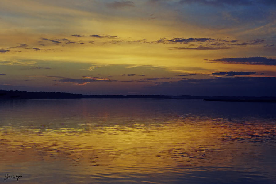 Clouds Photograph - On Golden Pond by Phill Doherty