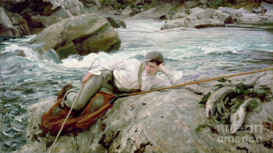 Norway Painting - On His Holidays by John Singer Sargent