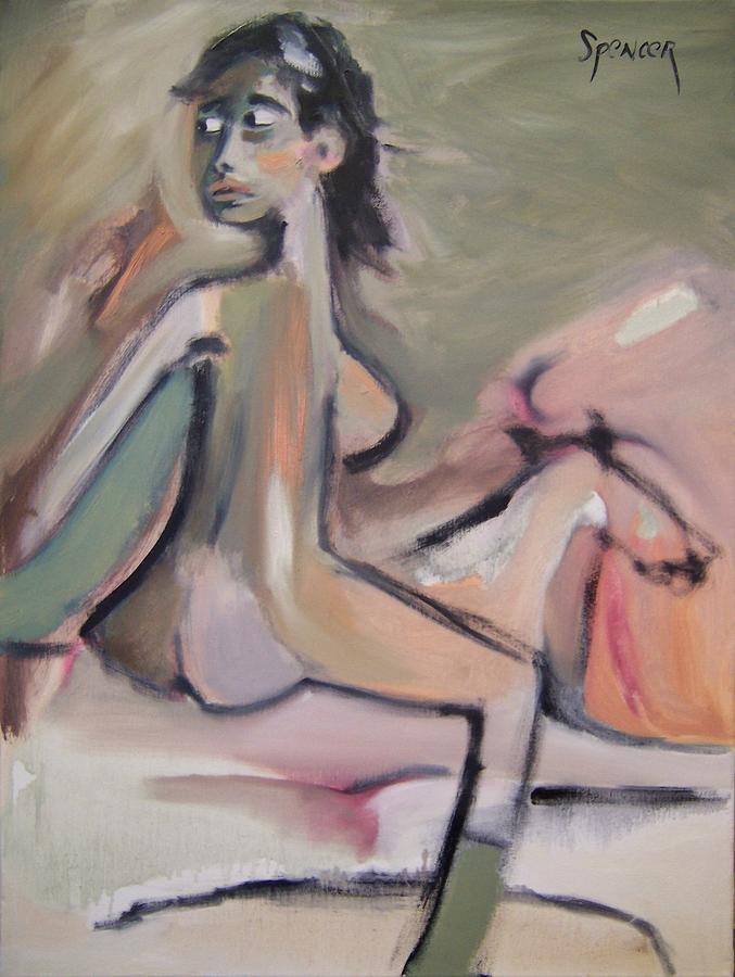 Woman Painting - On Horseback by Scott Spencer