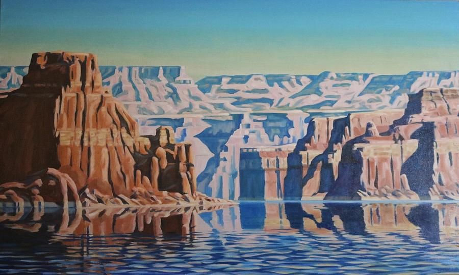 Oil Painting - On Lake Powell by Marie Kerns