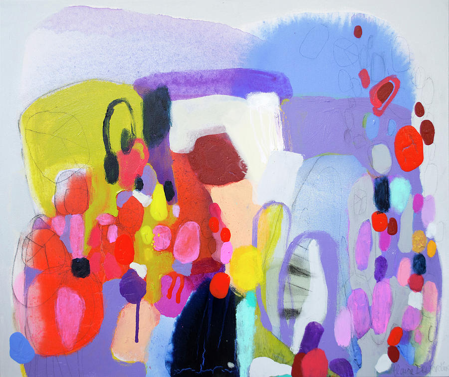 Abstract Painting - On My Mind by Claire Desjardins